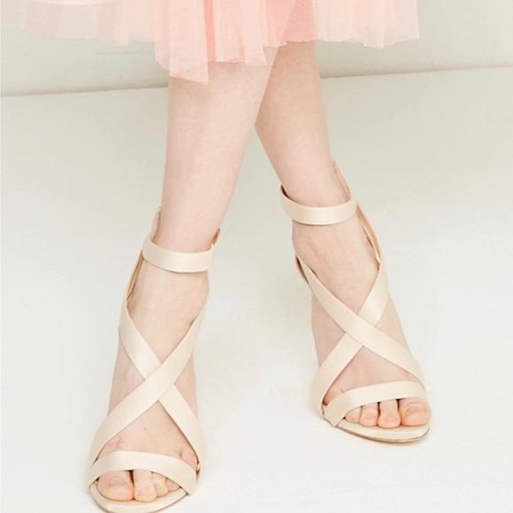 51b57858e Vince Camuto Shoes | New Satin Heels Strap Sandal 6 12 | Poshmark